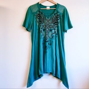Vocal mineral washed tunic